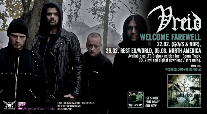 Vreid - Welcome Farewell banner
